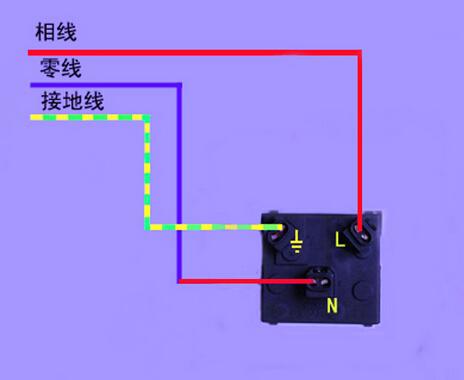 单相三孔插座接线图
